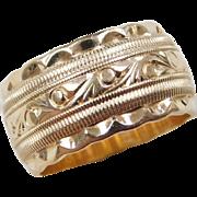Vintage 14k Gold WIDE Ring