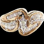 Vintage 10k Gold Two-Tone .69 ctw Diamond Ring
