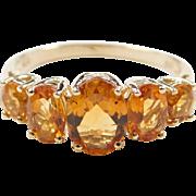 Vintage 10k Gold Citrine Ring