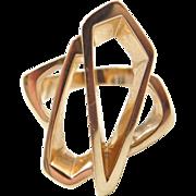 Vintage 14k Gold Funky Modernist Ring