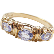 Vintage 14k Gold Iolite Ring