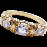 Vintage 14k Gold Iolite Ring