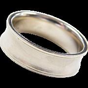 Vintage 14k White Gold Comfort Fit Band Ring