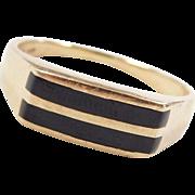 Vintage 14k Gold Onyx Ring
