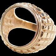Vintage 14k Gold $2 1/2 Indian / Liberty Coin Bezel Ring