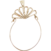 Vintage 14k Gold Charm Holder Pendant