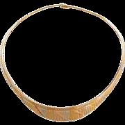 "Vintage 18k Gold Tri-Color Graduated Necklace ~ 18"" ~ 31.9 Grams"