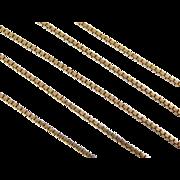 """Vintage 14k Gold Box Chain ~ 16"""" ~ 4.2 Grams"""