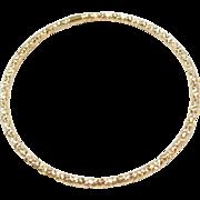 """Vintage 14k Gold Diamond Cut Bangle Bracelet ~ 8 1/4"""""""