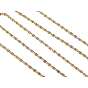 "Vintage 14k Gold Snail Chain  ~ 15"" ~ 1.7 Grams"