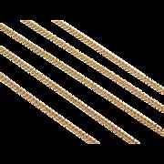 "Vintage 14k Gold Long Curb Link Chain ~ 24"" ~ 6.5 Grams"