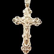 Vintage 14k Gold Big Crucifix Cross Pendant