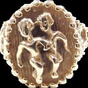 Vintage 14k Gold Gemini Ring