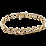 """Vintage 14k Gold Diamond Bracelet ~ 6 3/4"""""""