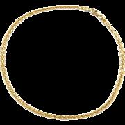 """Vintage 18k Gold Woven Anklet ~ 10 1/2"""""""