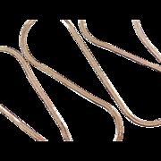 """Vintage 14k Gold LONG Herringbone Chain ~ 30"""" ~ 14.9 Grams"""