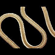 "Vintage 14k Gold Chain ~ 18"" ~ 9.6 Grams"