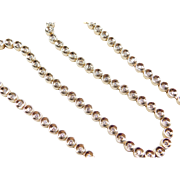 Vintage 14k Gold 1.20 ctw Diamond Necklace ~ 17""