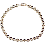 Vintage 14k Gold Diamond Bracelet ~ 7 1/2""