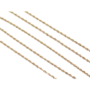 """Vintage 14k Gold Rope Chain ~ 20"""" ~ 1.5 Grams"""
