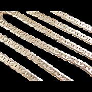 "Vintage 14k Gold Long Flat Marine Anchor Link Chain ~ 24 3/4"" ~ 22.3 Grams"