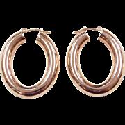 Vintage 14k Rose Gold Hoop Earrings