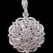 Vintage 14k White Gold Pendant