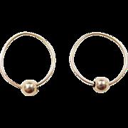 Vintage 14k Gold Hoop Earrings