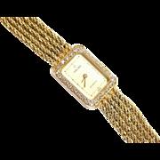 "Vintage 14k Gold Multi-strand  Concord Diamond Ladies Watch 6 3/4"" - 7"""