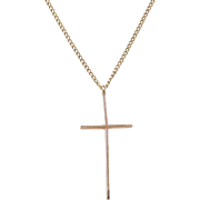 Vintage 14k Gold Cross Necklace
