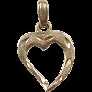 Vintage 14k Gold Heart Charm