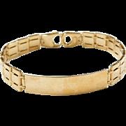 """Vintage 14k Gold Gents Bracelet ~ 8"""""""