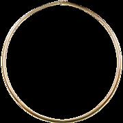 "Vintage 14k Gold Omega Chain ~ 16"" ~ 16.4 Grams"