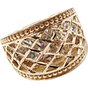 Vintage 14k Gold Two-Tone Ring