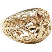 Vintage 14k Gold Dome Ring