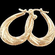 Vintage 10k Gold Hoop Earrings