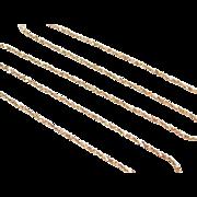 "Vintage 10k Gold Twisted Serpentine Chain ~ 16 1/2"" ~ 2.2 Grams"