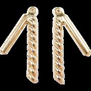 Vintage 14k Gold Earring Jackets