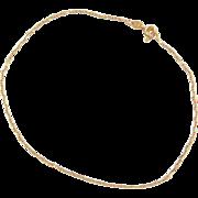 """Vintage 14k Gold Marine Anchor Link Anklet ~ 9 1/4"""""""