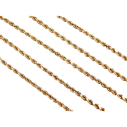 "Vintage 14k Gold Diamond Cut Rope Chain ~ 16"" ~ 4.7 Grams"