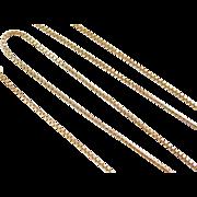 """Vintage 14k Gold Box Chain ~ 16"""" ~ 2.9 Grams"""