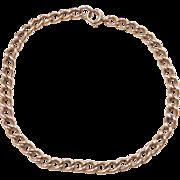 """Vintage 14k Gold Curb Link Bracelet ~ 7 3/4"""""""