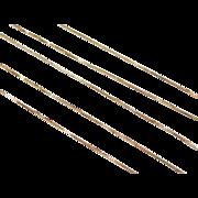 """Vintage 10k Gold Box Chain ~ 18"""" ~ 0.9 grams"""