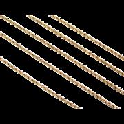 "Vintage 14k Gold Diamond Cut Rope Chain ~ 20"" ~ 3.5 Grams"
