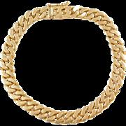 """Vintage 18k Gold Men's Curb Link Bracelet 8"""" ~ 29.9 Grams"""