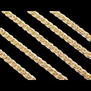 "Vintage 14k Gold Flat Marine Anchor Link Chain ~ 21""~ 5.4 Grams"