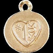 Vintage 14k Gold #1 MOM Charm
