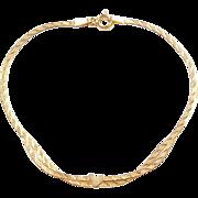 """Vintage 10k Gold Heart Bracelet ~ 7"""""""