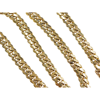 """HEAVY 195.5 Grams 14k Gold Men's Solid Curb Link Chain ~ Long ~ 24 1/2"""""""