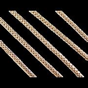 "Vintage 14k Gold Flat Box Chain ~ 19"""